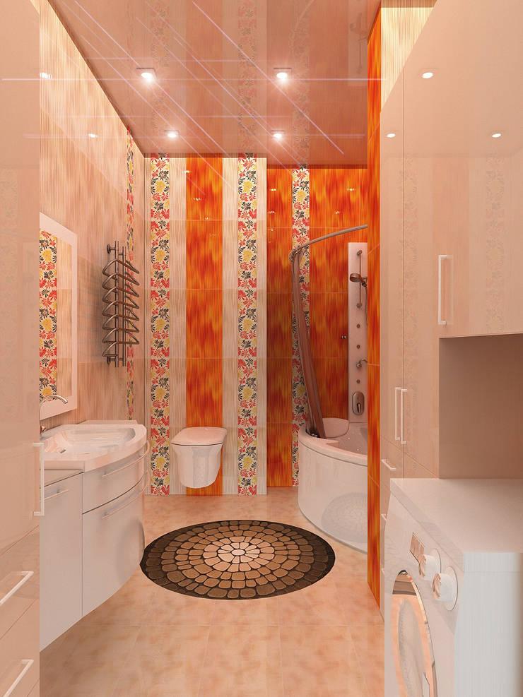 Квартира1: Ванные комнаты в . Автор – ИП Поварова Татьяна Владимировна