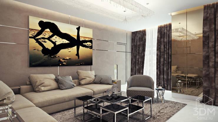 Salas de estar  por студия визуализации и дизайна интерьера '3dm2' , Minimalista
