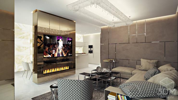 Phòng khách theo студия визуализации и дизайна интерьера '3dm2', Tối giản
