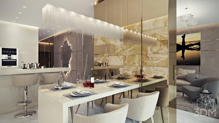 Phòng ăn theo студия визуализации и дизайна интерьера '3dm2', Tối giản