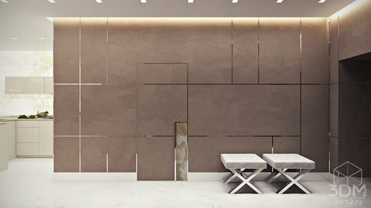 Hành lang theo студия визуализации и дизайна интерьера '3dm2', Tối giản