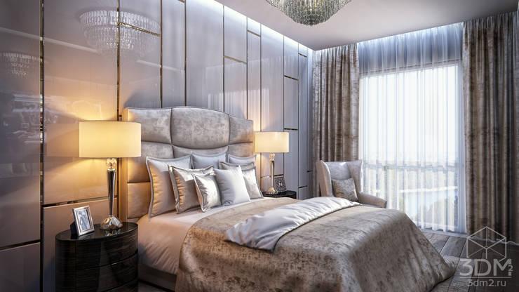 Phòng ngủ theo студия визуализации и дизайна интерьера '3dm2', Tối giản