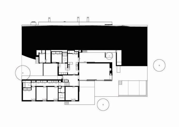 Planta geral: Casas  por bpm arquitectura lda