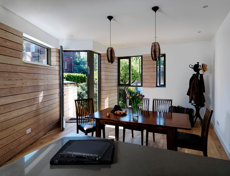 Wistanton Cottage :  Dining room by Simon Gill Architects