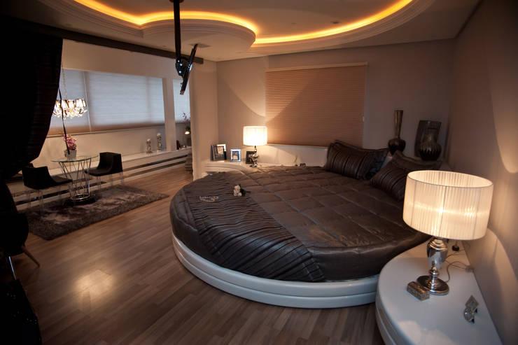 Projekty,  Sypialnia zaprojektowane przez Paulinho Peres Group