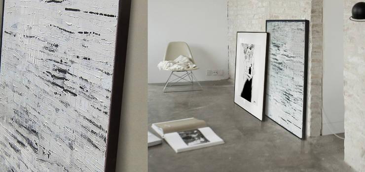 Abstract acrylic painting W100xS80cm: styl , w kategorii  zaprojektowany przez Iwonabilska,Nowoczesny