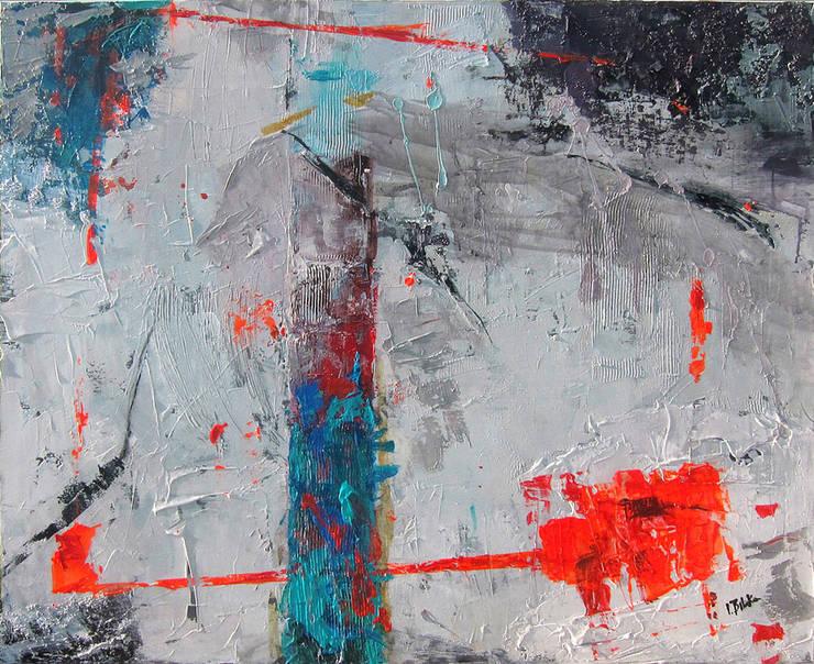 Abstract acrylic painting W80xS100cm: styl , w kategorii Sztuka zaprojektowany przez Iwonabilska