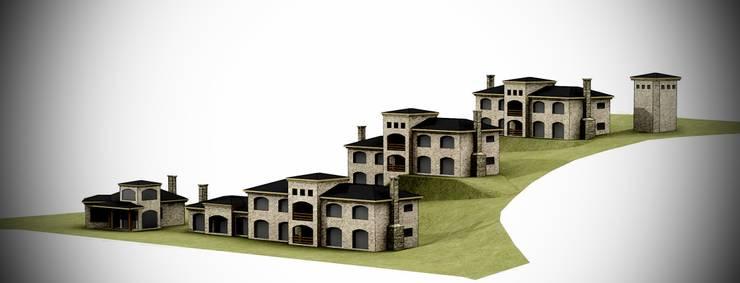 Casas de estilo  por Lüters ochoa arquitectos., Minimalista Piedra
