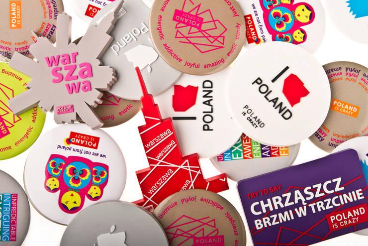 Magnesy Poland Is Crazy: styl , w kategorii Gospodarstwo domowe zaprojektowany przez POLAND IS CRAZY,