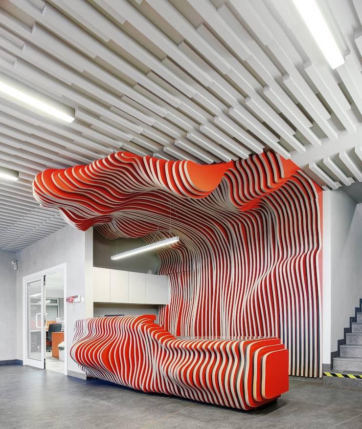 Projekt biur firmy MIA: styl , w kategorii Biurowce zaprojektowany przez MG Interior Studio Michał Głuszak