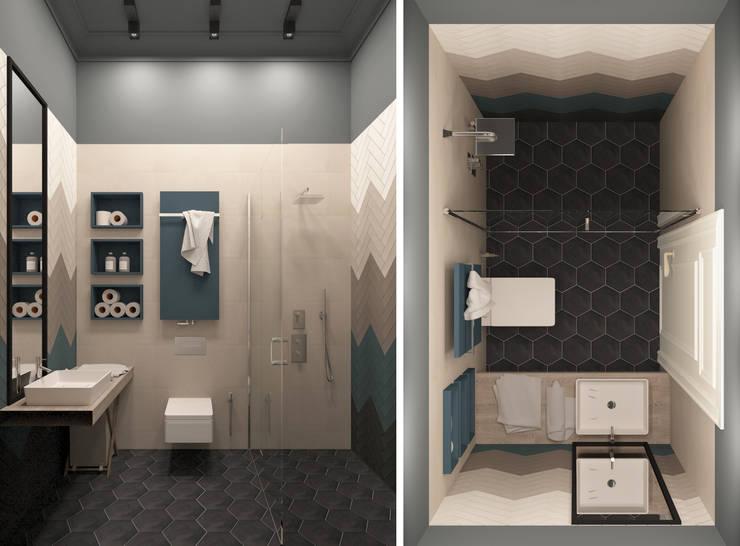 Детский (гостевой) санузел: Ванные комнаты в . Автор – Котова Ольга