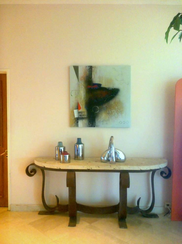 espacios con arte Pasillos, vestíbulos y escaleras clásicas de Daniel Vidal Clásico Arenisca