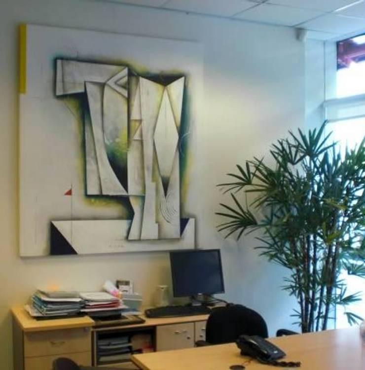 espacios con arte Estudios y oficinas clásicos de Daniel Vidal Clásico Madera Acabado en madera