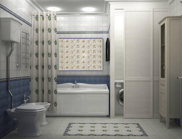 Санузлы: Ванные комнаты в . Автор – ООО ПрофЭксклюзив Студия дизайна интерьеров