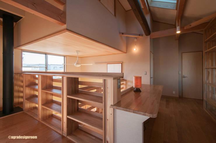 2階は遊び心いっぱいの自遊空間 オリジナルデザインの 多目的室 の アグラ設計室一級建築士事務所 agra design room オリジナル