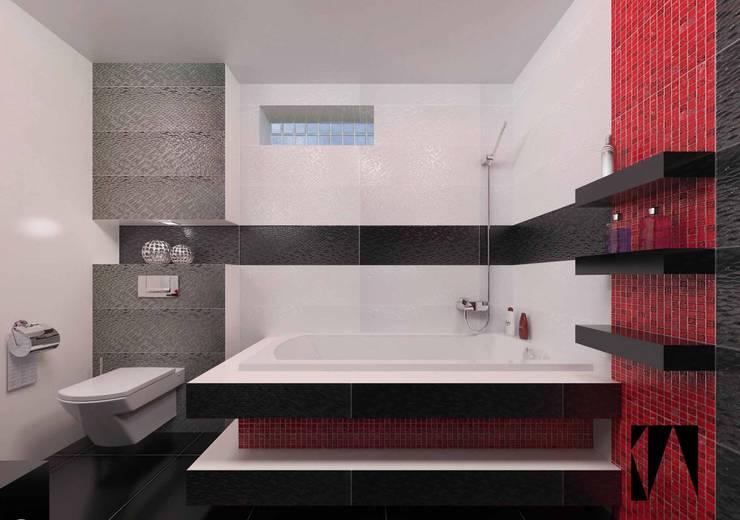 Łazienka w 3 kolorach: styl , w kategorii Łazienka zaprojektowany przez Katarzyna Wnęk