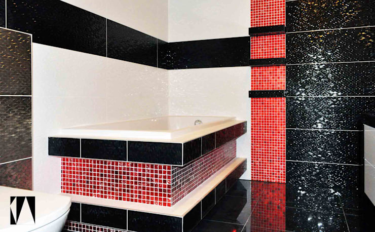 Łazienka w 3 kolorach: styl , w kategorii Łazienka zaprojektowany przez Katarzyna Wnęk,