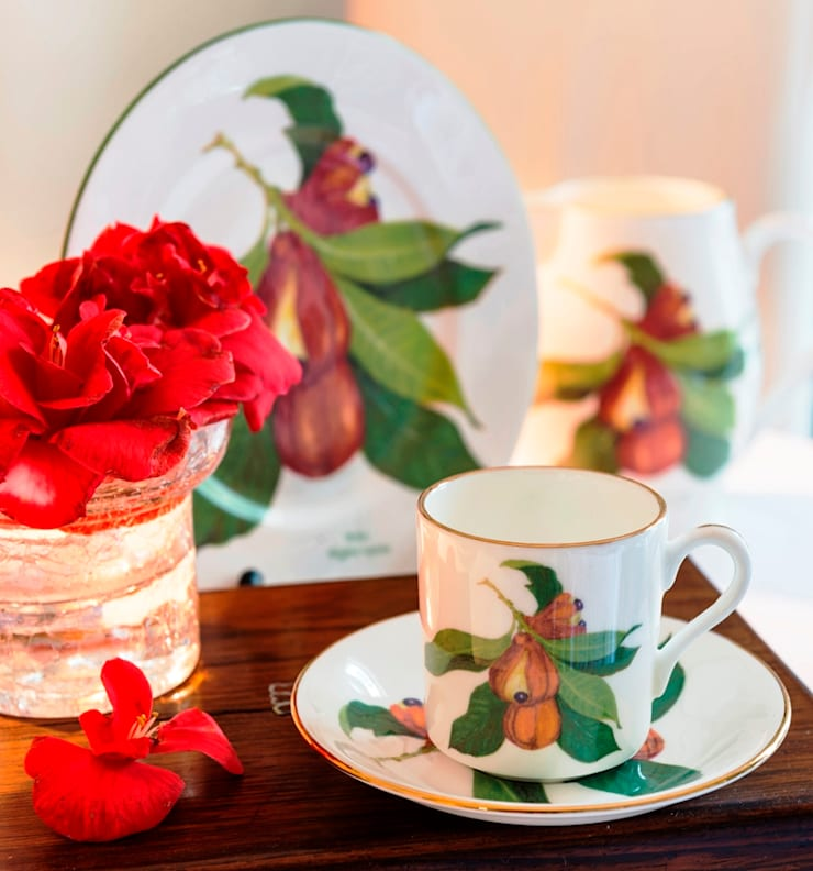 """""""Jamaican Ackee"""" Fine Bone China Collection: tropical  by Jenny Mein Designs, Tropical Ceramic"""