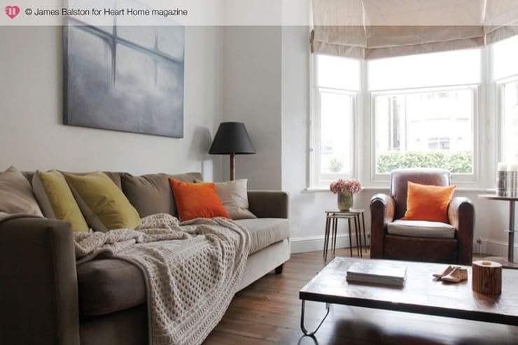 A Victorian Terraced House:  Living room by Heart Home magazine