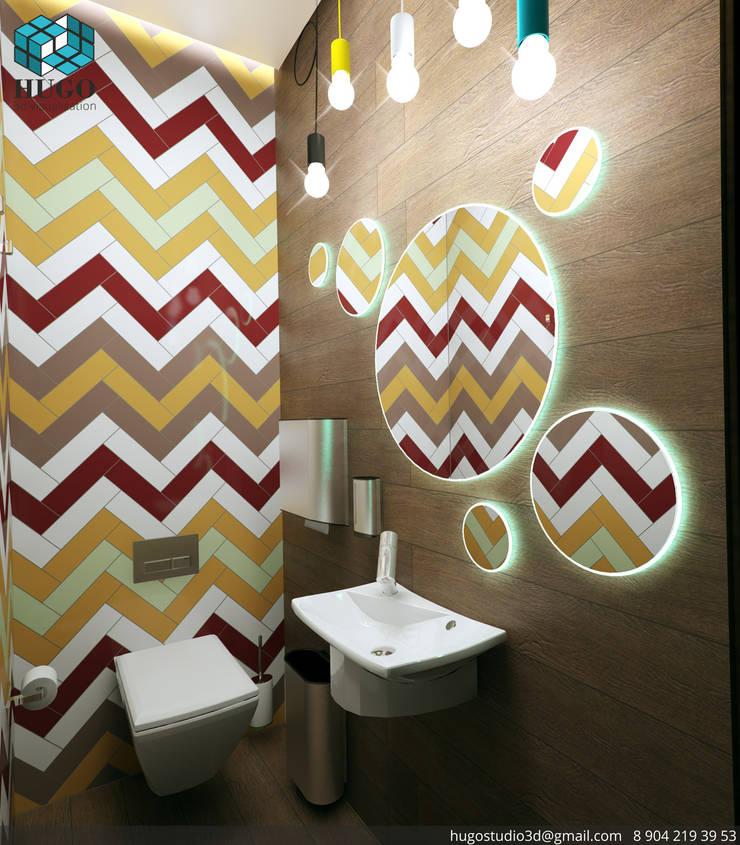 ПРОЕКТ №1: Ванные комнаты в . Автор – HUGO,