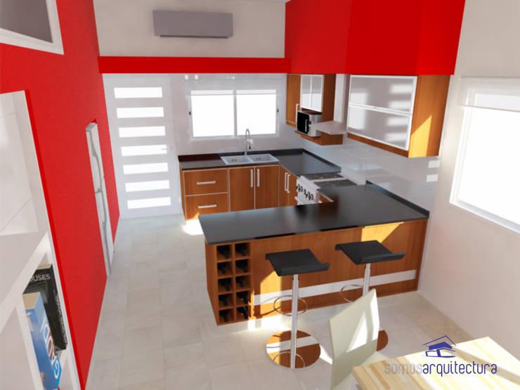 Proyecto de reforma en Cocina / Comedor: Cocinas de estilo moderno por Somos Arquitectura