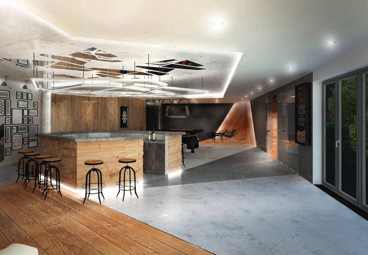 Party Room w domu prywatnym: styl , w kategorii  zaprojektowany przez Partner Design