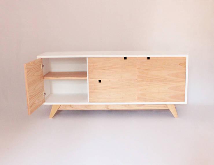 Cómoda Simone: Dormitorios de estilo moderno por Debute Muebles