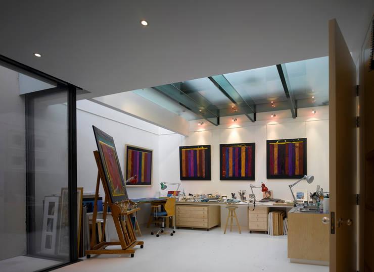 Park Village West: modern Study/office by Belsize Architects