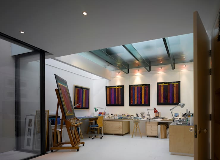 Park Village West:  Study/office by Belsize Architects