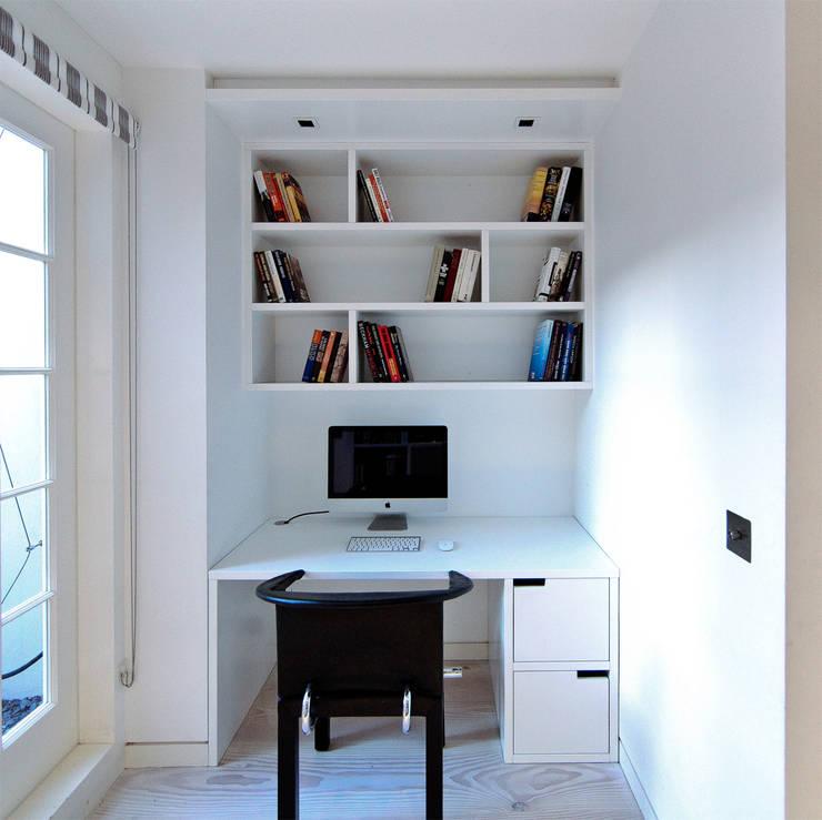 Pond Street: modern Study/office by Belsize Architects