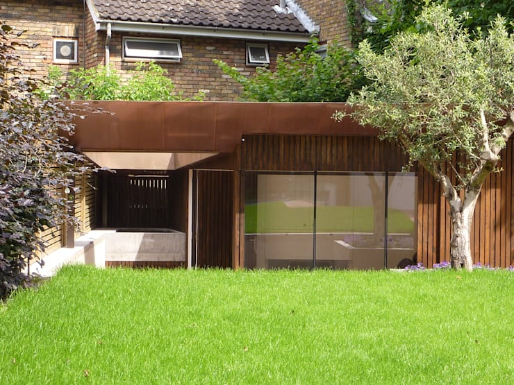 Pond Street: modern Garage/shed by Belsize Architects