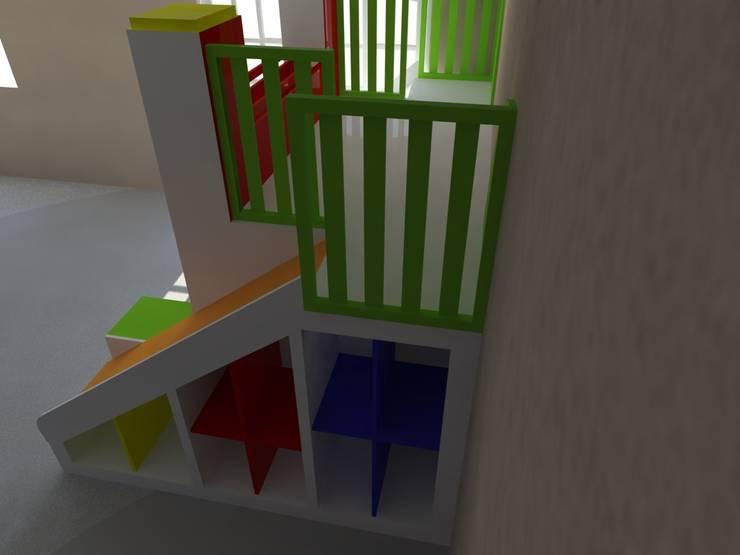 Juego para chicos en dormitorio: Dormitorios infantiles  de estilo  por Somos Arquitectura