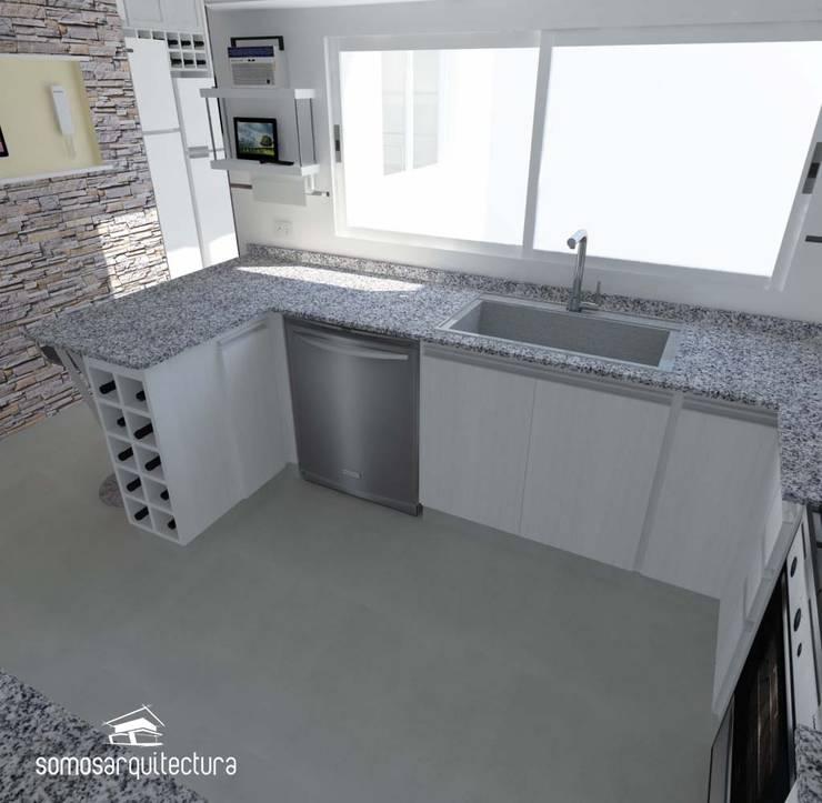 Proyecto de reforma en Cocina / Lavadero: Cocinas de estilo minimalista por Somos Arquitectura