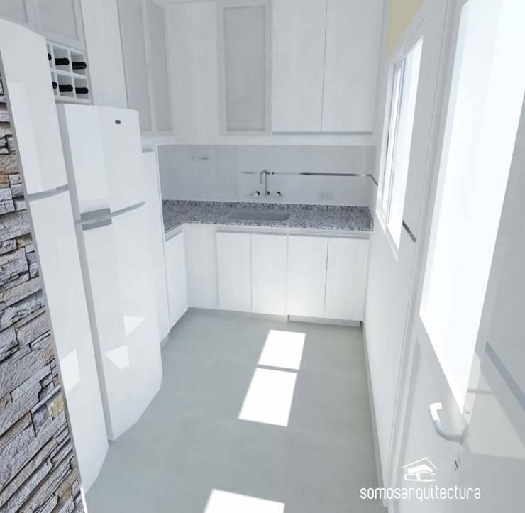 Proyecto de reforma en Cocina / Lavadero: Cocinas de estilo moderno por Somos Arquitectura