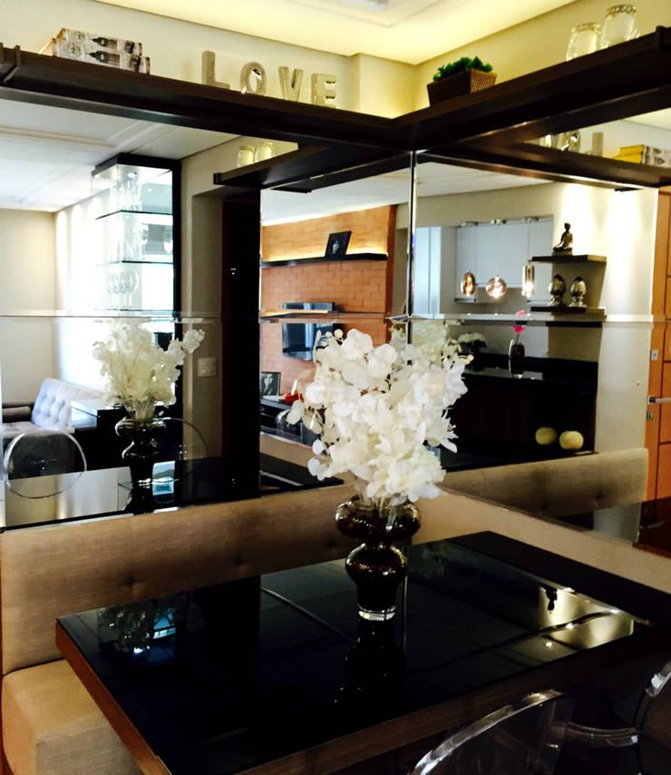 Sala de Jantar: Salas de jantar  por Suelen Kuss Arquitetura e Interiores,