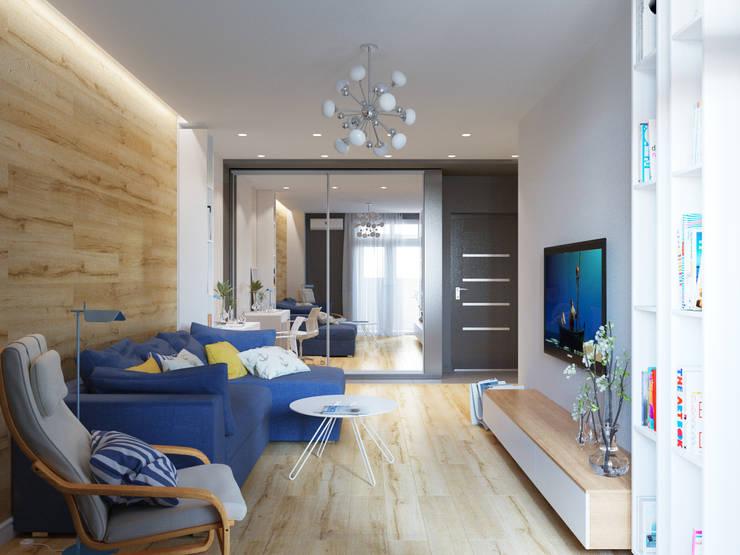 Квартира однокомнатная для аренды: Гостиная в . Автор – Оксана Мухина,