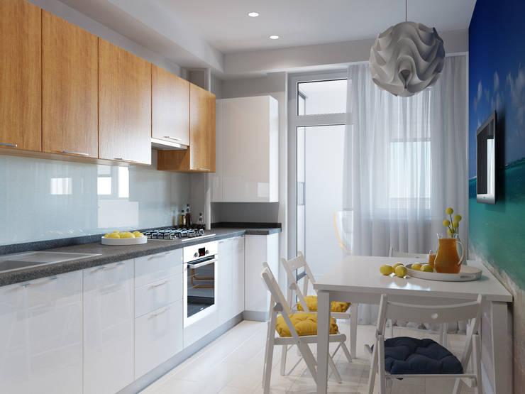 Квартира однокомнатная для аренды: Кухни в . Автор – Оксана Мухина,