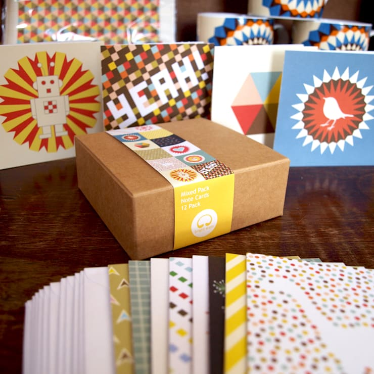 Mixed Pack of Notecards:  Artwork by Bright Stem