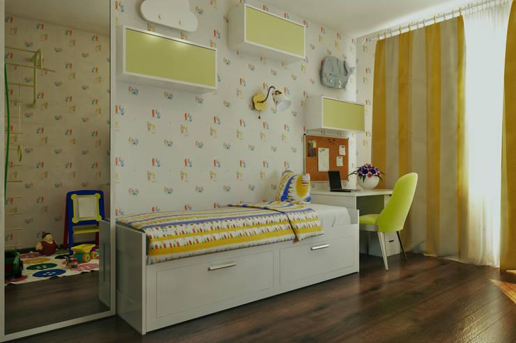 Вид на раскладную кровать: Детские комнаты в . Автор –  Pure Design