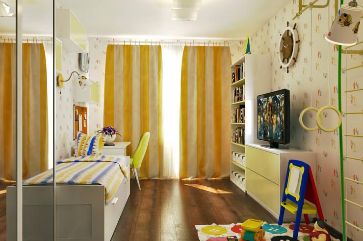 Вид на окно: Детские комнаты в . Автор –  Pure Design