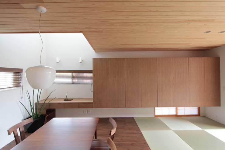 上新庄の家: haws建築設計事務所が手掛けたダイニングです。