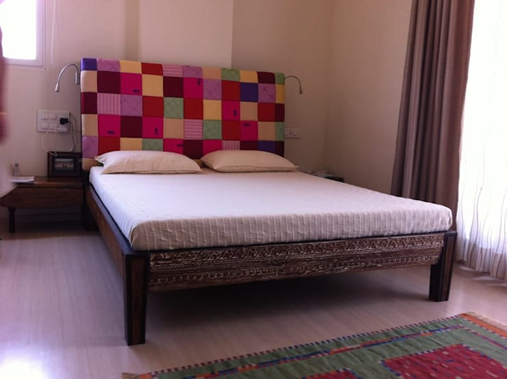 unique bed: asian Bedroom by uttara and adwait furniture