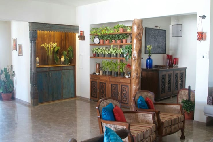interior project : residential apartment: asian Wine cellar by uttara and adwait furniture