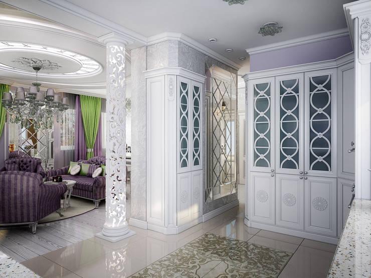 Проект 2х этажного коттеджа в стиле современная классика: Кухни в . Автор – Инна Михайская,
