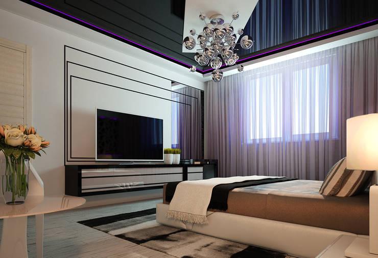 Проект квартиры-студии: Спальни в . Автор – Инна Михайская,