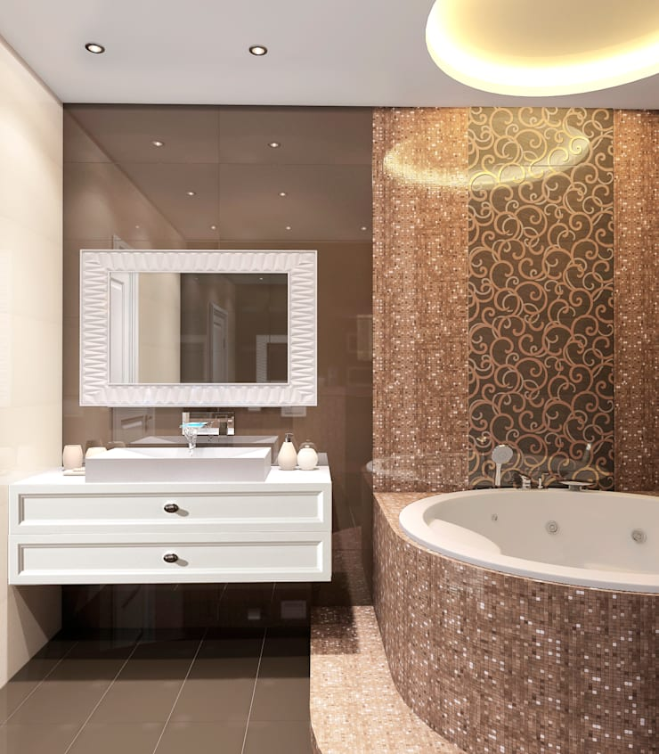 ЖК Велл Хаус (Well House), 163 м²: Ванные комнаты в . Автор – Bronx