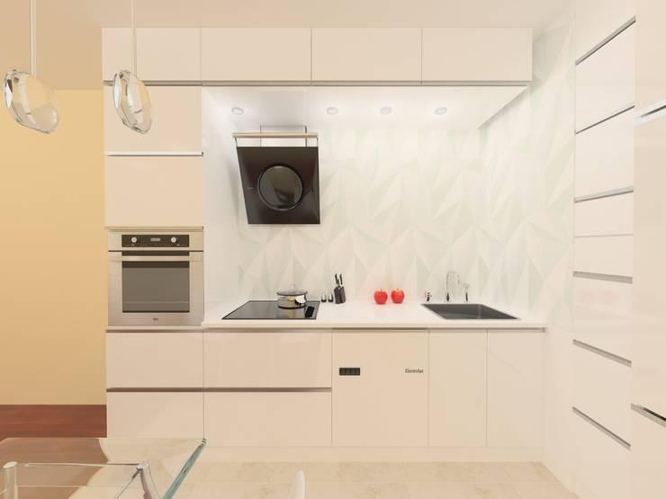 Bioło biała: styl , w kategorii Kuchnia zaprojektowany przez Katarzyna Wnęk