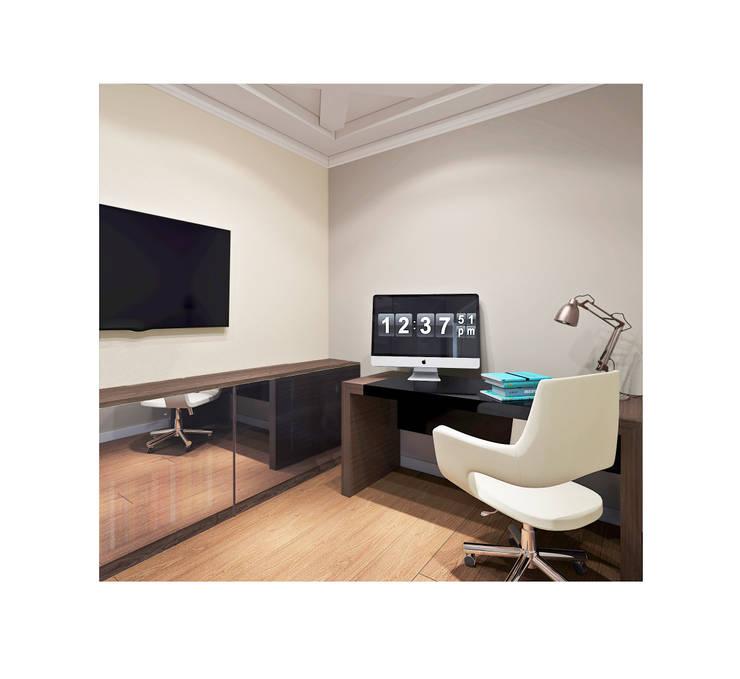 ЖК Велл Хаус (Well House), 163 м²: Рабочие кабинеты в . Автор – Bronx