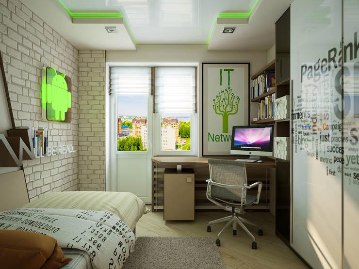 Проект 4х комнатной квартиры: Детские комнаты в . Автор – Инна Михайская