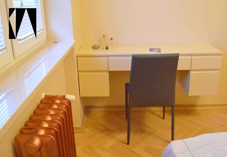 Miedziany kaloryfer: styl , w kategorii Sypialnia zaprojektowany przez Katarzyna Wnęk,